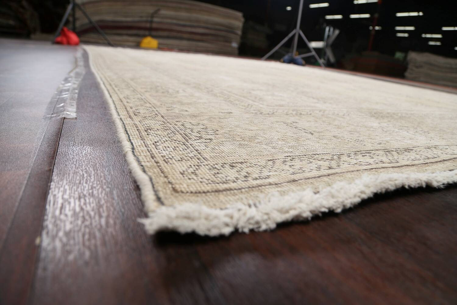 Muted Distressed Floral Tabriz Persian Area Rug 10x13 image 6