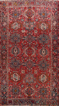 Tribal Geometric Gharajeh Persian Area Rug 8x11
