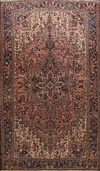 Geometric Heriz Persian Area Rug 8x10