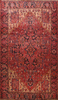Geometric Heriz Persian Area Rug 9x13