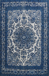 Over-dye Floral Kerman Persian Area Rug 9x12