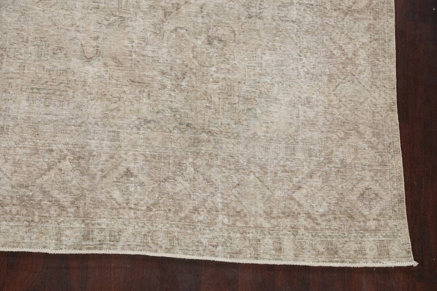 Muted Distressed Tabriz Persian Area Rug 10x13 image 5