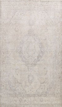 Muted Floral Kerman Persian Area Rug 10x13