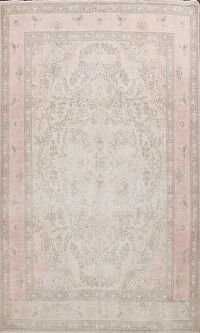 Distressed Floral Tabriz Persian Area Rug 10x13