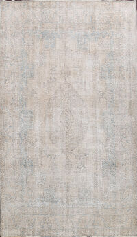 Muted Distressed Kerman Persian Area Rug 10x12