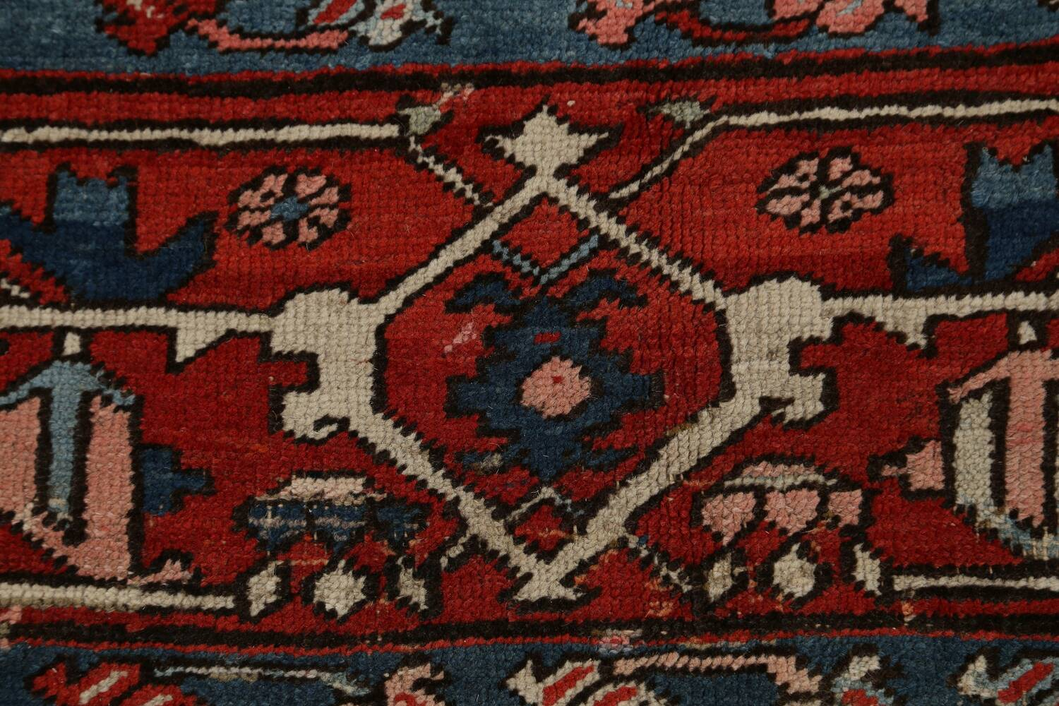 Pre-1900 Antique Heriz Serapi Vegetable Dye Persian Rug 12x16 image 9