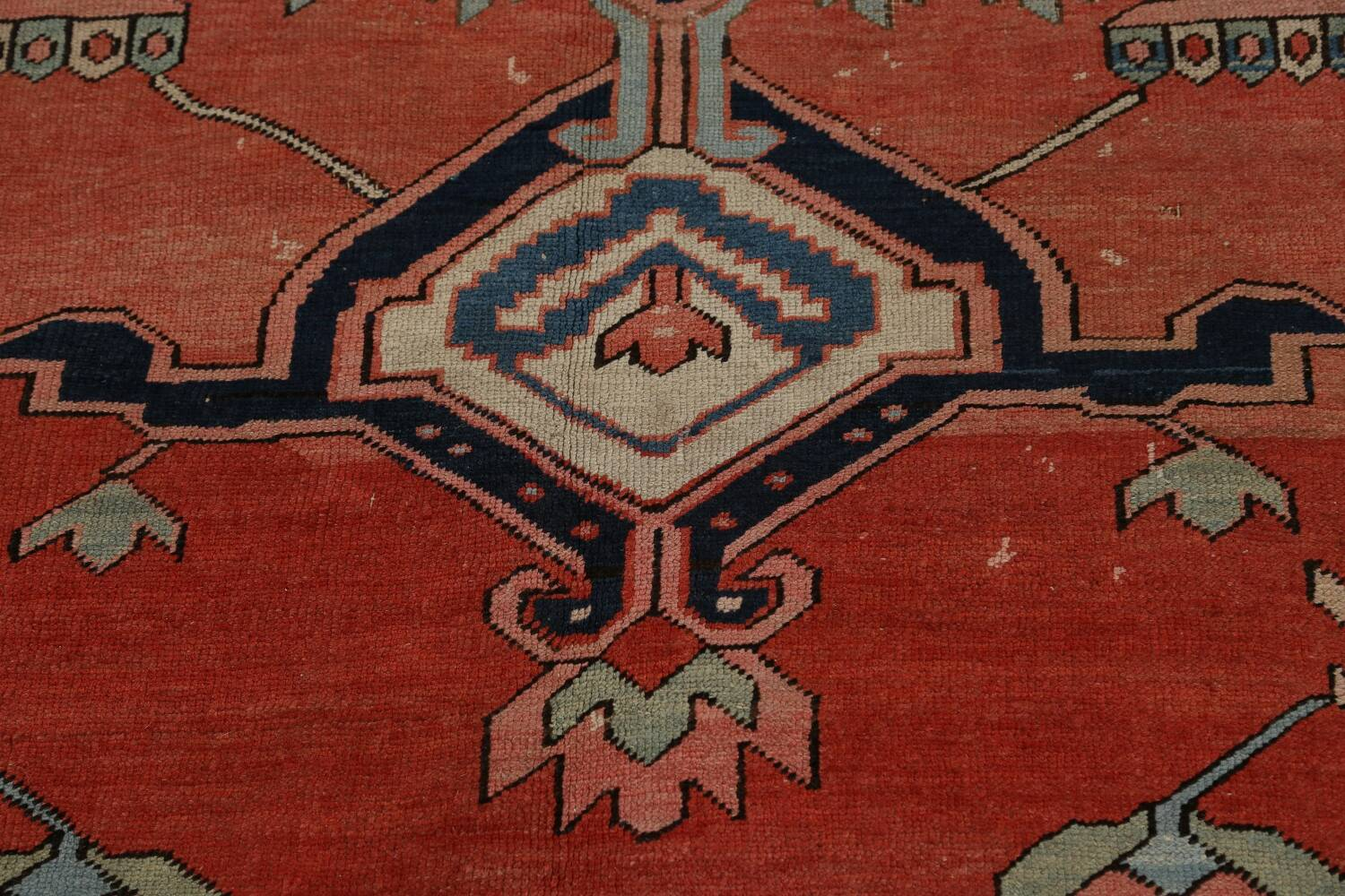 Pre-1900 Antique Heriz Serapi Vegetable Dye Persian Rug 12x16 image 11