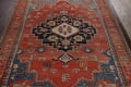Pre-1900 Antique Heriz Serapi Vegetable Dye Persian Rug 12x16 image 3