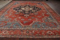 Pre-1900 Antique Heriz Serapi Vegetable Dye Persian Rug 12x16 image 22