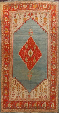 Antique Oushak Vegetable Dye Turkish Area Rug 8x12