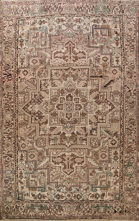 Antique Geometric Heriz Persian Area Rug 10x12