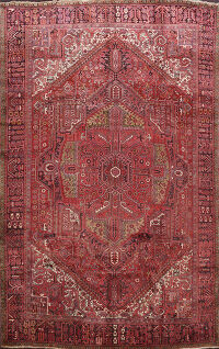 Geometric Heriz Persian Area Rug 10x12