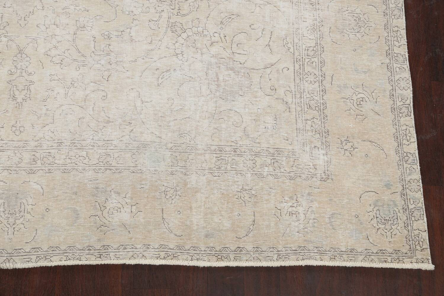 Muted Distressed Tabriz Persian Area Rug 10x12 image 5