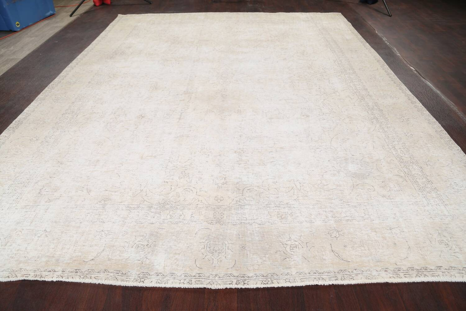 Muted Distressed Tabriz Persian Area Rug 10x12 image 16