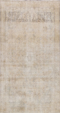 Floral Distressed Kerman Persian Area Rug 6x9