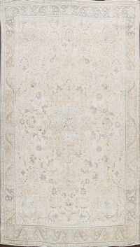 Muted Distressed Tabriz Persian Area Rug 9x13
