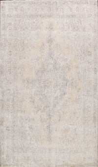 Muted Distressed Tabriz Persian Area Rug 10x13