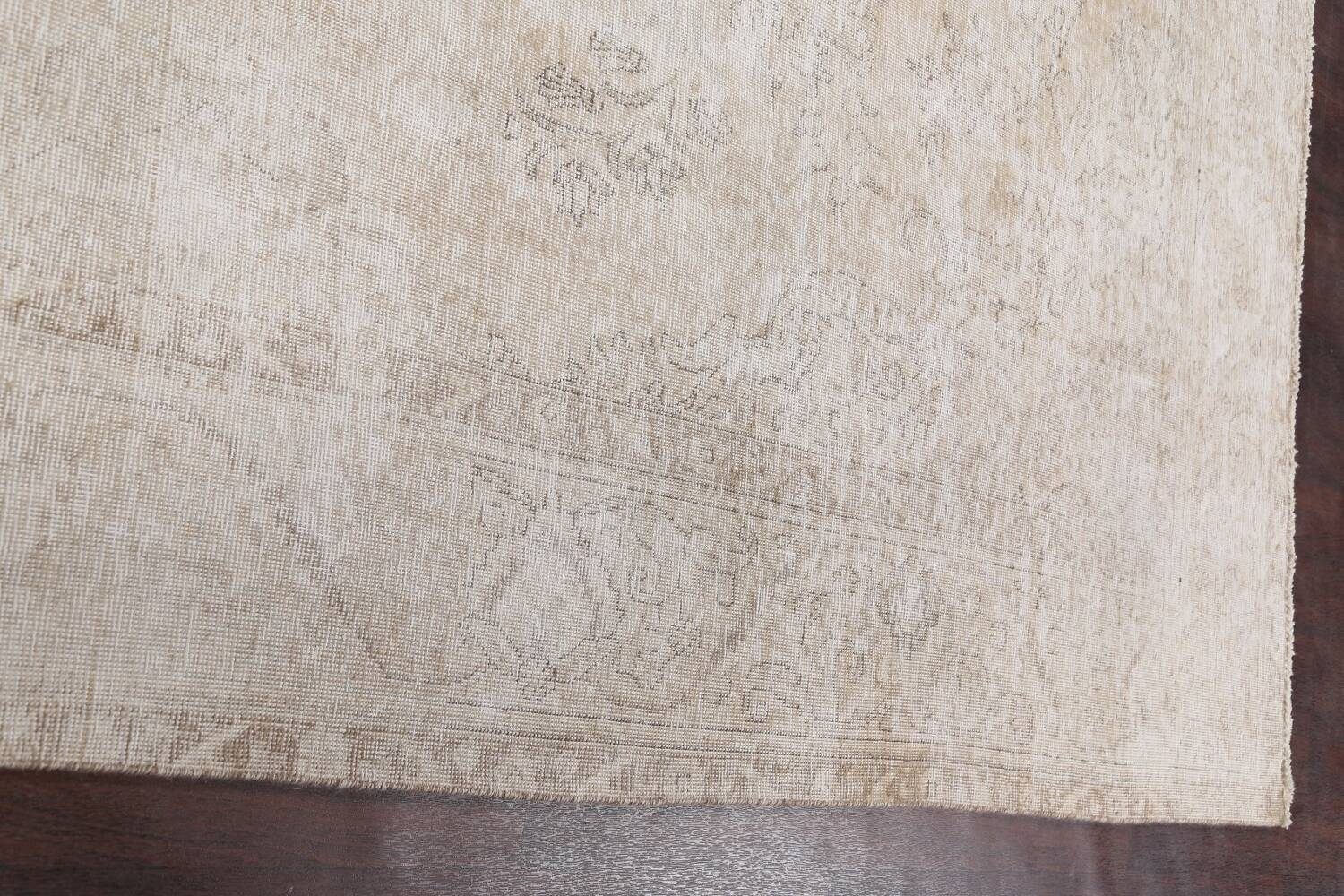 Muted Distressed Tabriz Persian Area Rug 10x12 image 13