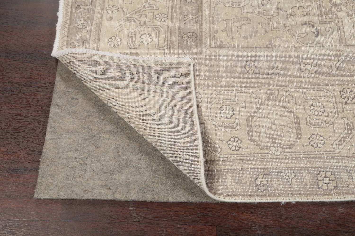 Muted Distressed Tabriz Persian Area Rug 9x12 image 7
