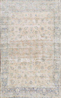 Muted Distressed Kerman Persian Area Rug 8x10