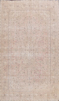 Distressed Floral Kerman Persian Area Rug 8x10