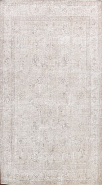 Muted Distressed Tabriz Persian Area Rug 10x14