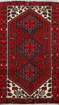 Tribal Geometric Hamedan Persian Area Rug 3x5
