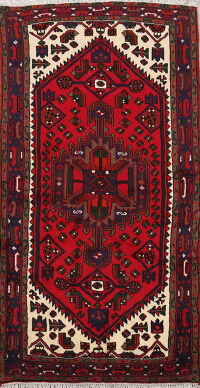 Tribal Geometric Hamedan Persian Area Rug 3x6