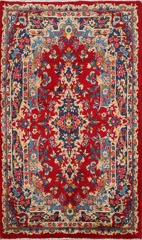 Floral Kerman Persian Area Rug 3x5