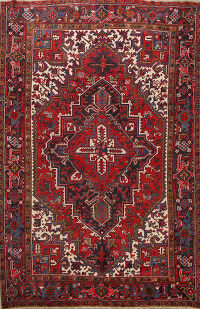 Geometric Heriz Persian Area Rug 8x9