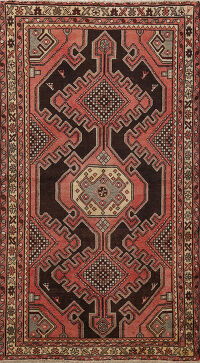 Tribal Geometric Bakhtiari Persian Area Rug 4x6