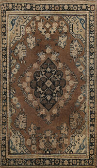 Antique Geometric Mahal Persian Area Rug 4x6