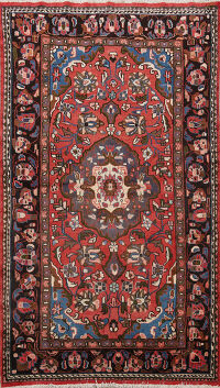 Floral Red Lilian Persian Area Rug 5x7