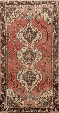 Antique Geometric Malayer Persian Area Rug 4x7