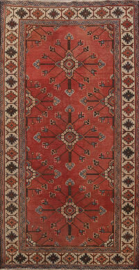 100% Vegetable Dye Geometric Malayer Persian Area Rug 4x7