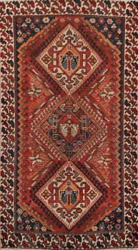 Antique Tribal Bakhtiari Persian Area Rug 4x7