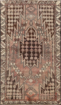 Tribal Hamedan Persian Area Rug 4x6