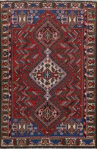 Antique Tribal Bakhtiari Persian Area Rug 5x6