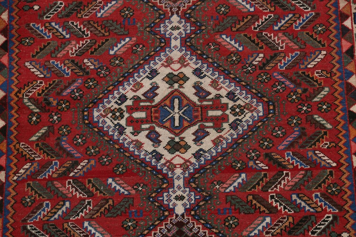 Antique Tribal Bakhtiari Persian Area Rug 5x6 image 4
