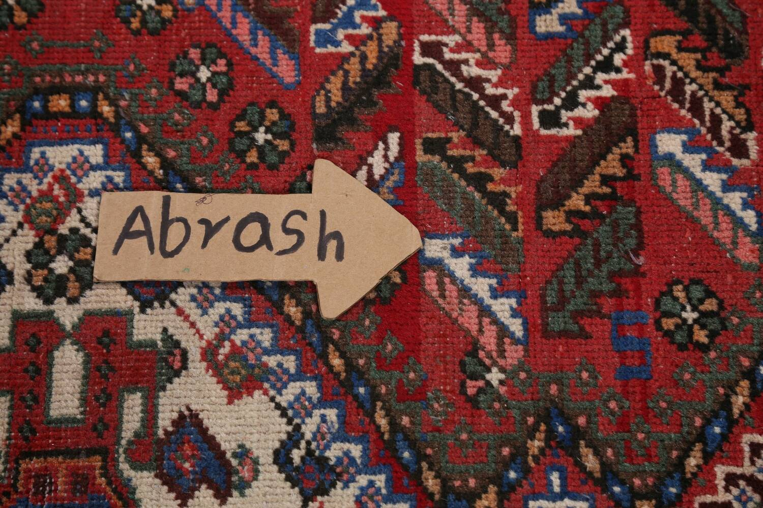 Antique Tribal Bakhtiari Persian Area Rug 5x6 image 13