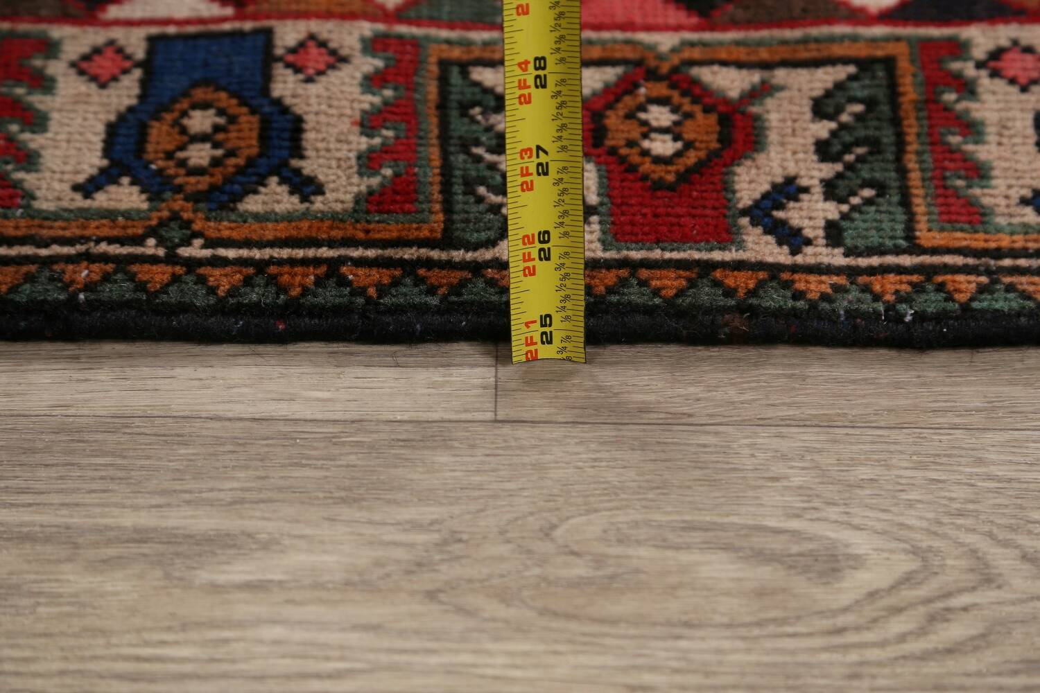 Antique Tribal Bakhtiari Persian Area Rug 5x6 image 21