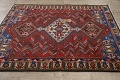 Antique Tribal Bakhtiari Persian Area Rug 5x6 image 14