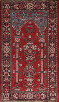Pictorial Najafabad Persian Area Rug 4x7