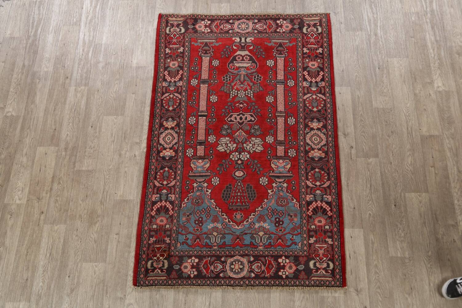 Pictorial Najafabad Persian Area Rug 4x7 image 2