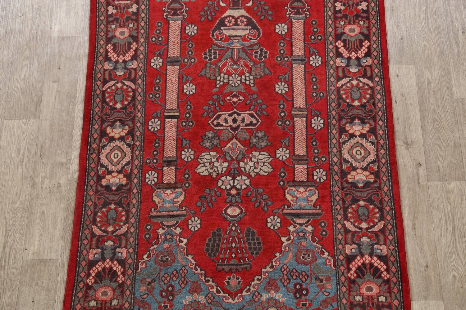 Pictorial Najafabad Persian Area Rug 4x7 image 3