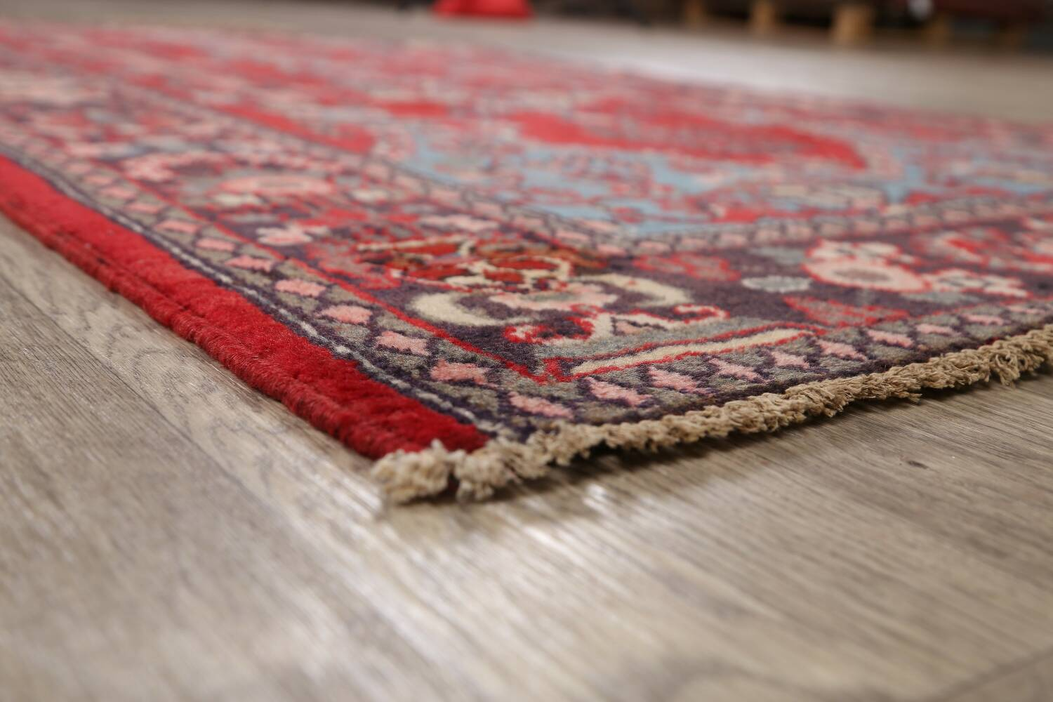 Pictorial Najafabad Persian Area Rug 4x7 image 6