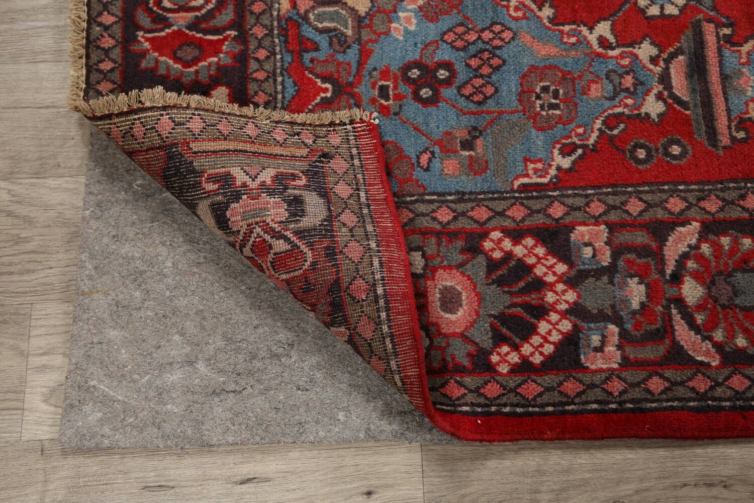 Pictorial Najafabad Persian Area Rug 4x7 image 7