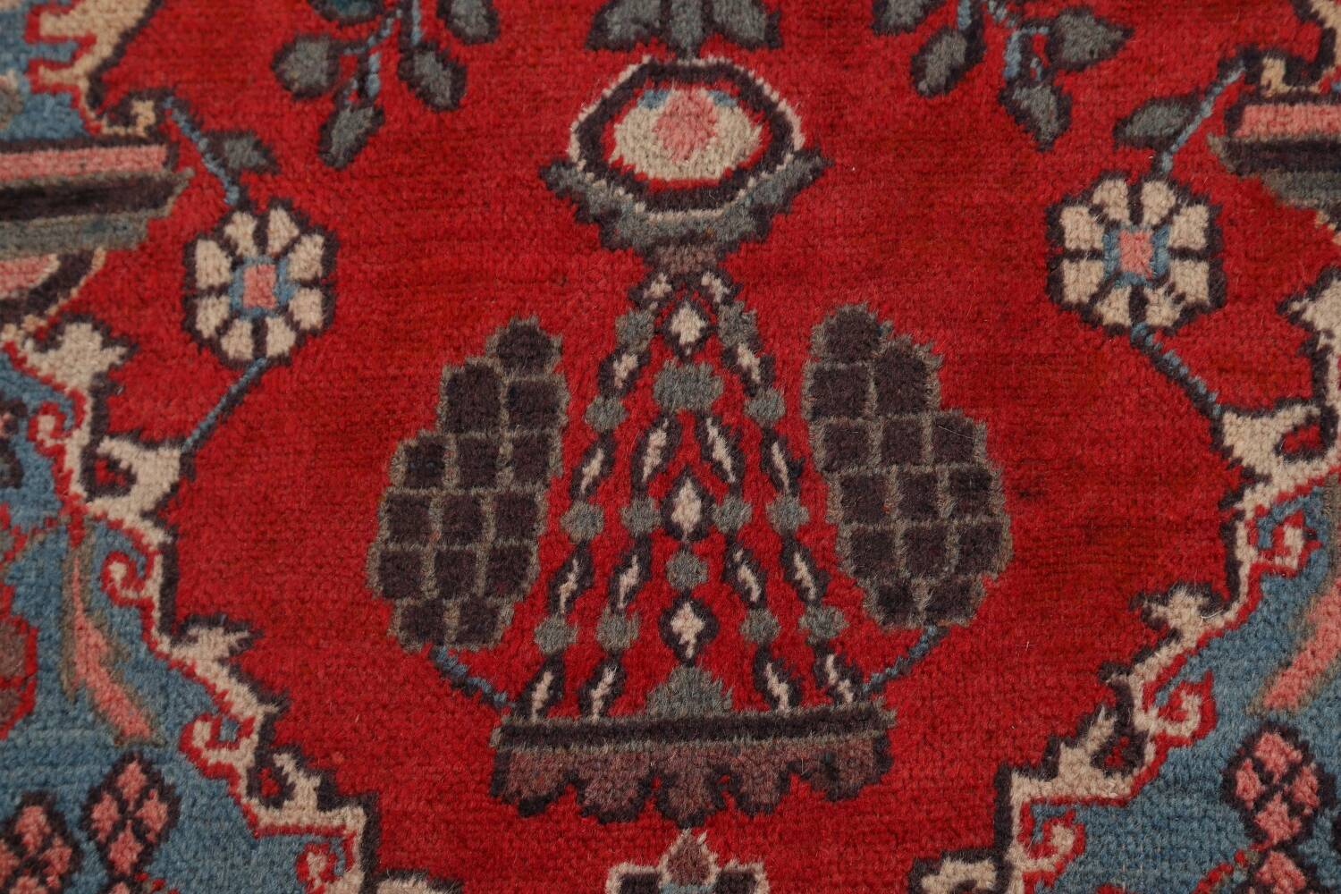 Pictorial Najafabad Persian Area Rug 4x7 image 9