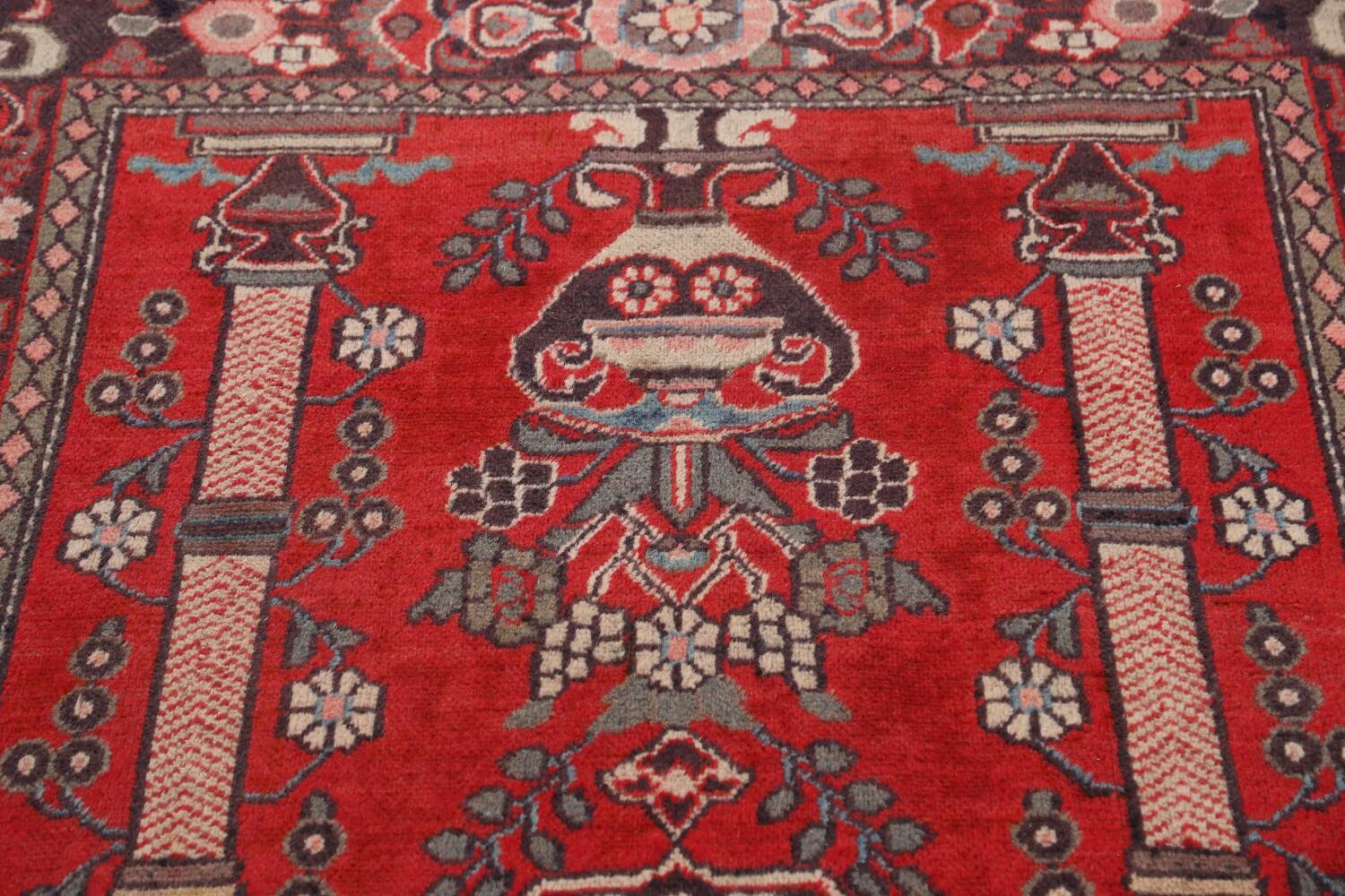 Pictorial Najafabad Persian Area Rug 4x7 image 11