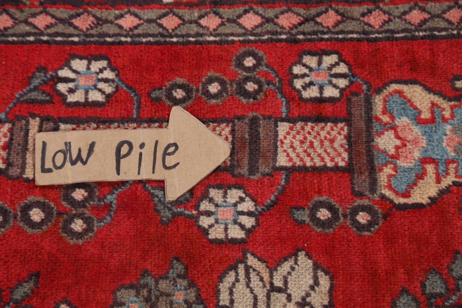 Pictorial Najafabad Persian Area Rug 4x7 image 12